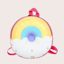 Maedchen Rucksack mit Donuts Design