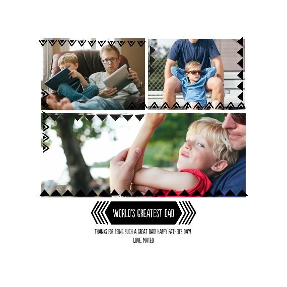 Family + Friends Framed Canvas Print, Oak, 12x12, Home Décor -Greatest Dad Triangle Border