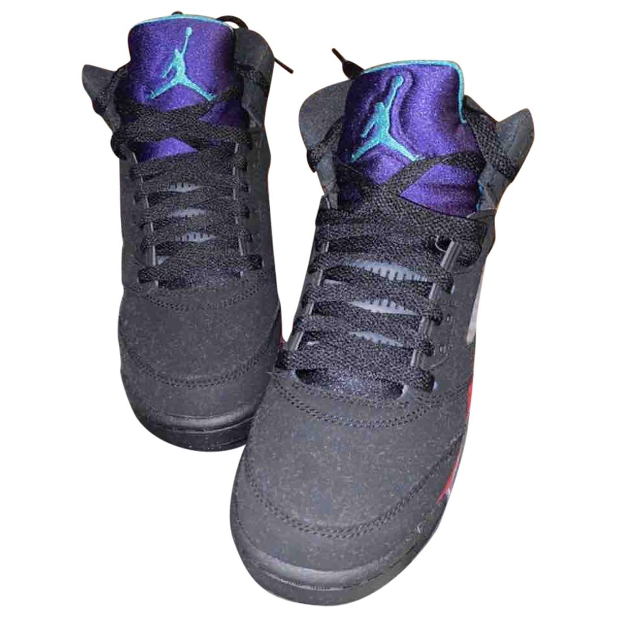 Jordan - Baskets Air Jordan 5 pour femme en caoutchouc - noir