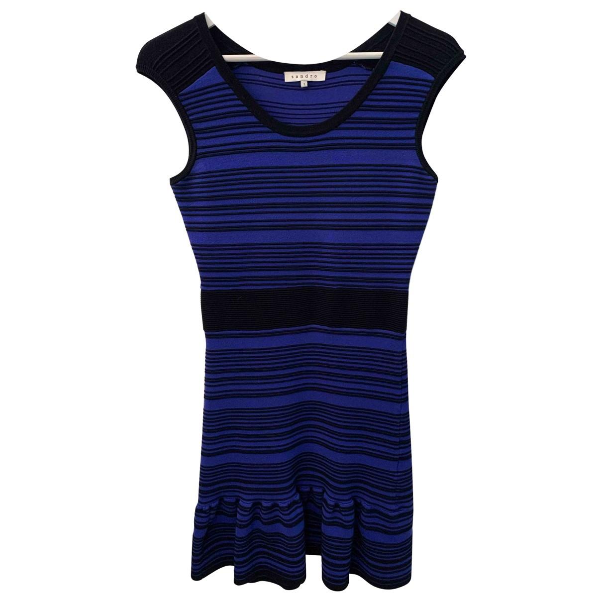 Sandro \N Kleid in  Marine Baumwolle