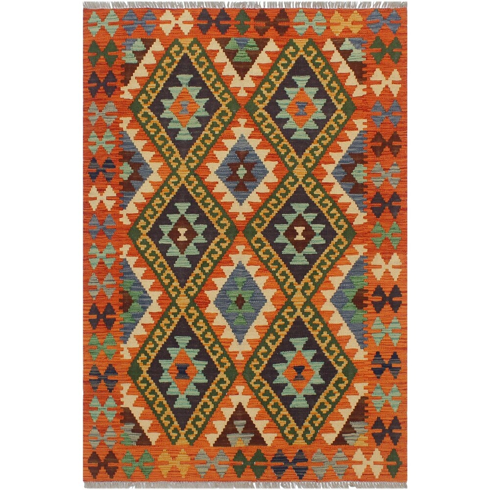 Tribal Turkish Kilim Babara Hand-Woven Area Rug - 3'3