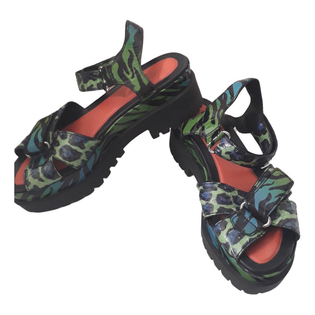 Kenzo \N Sandalen in  Gruen Leder