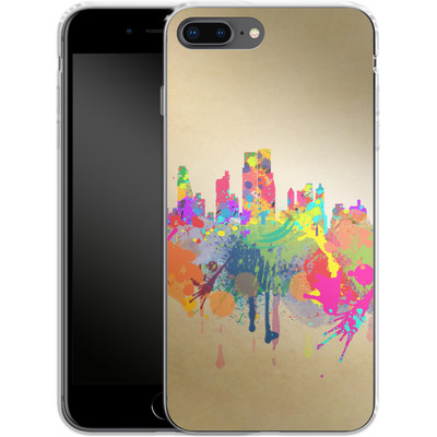 Apple iPhone 8 Plus Silikon Handyhuelle - New York Skyline von Mark Ashkenazi