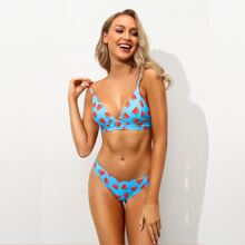 Bikini Badeanzug mit Wassermelone Muster