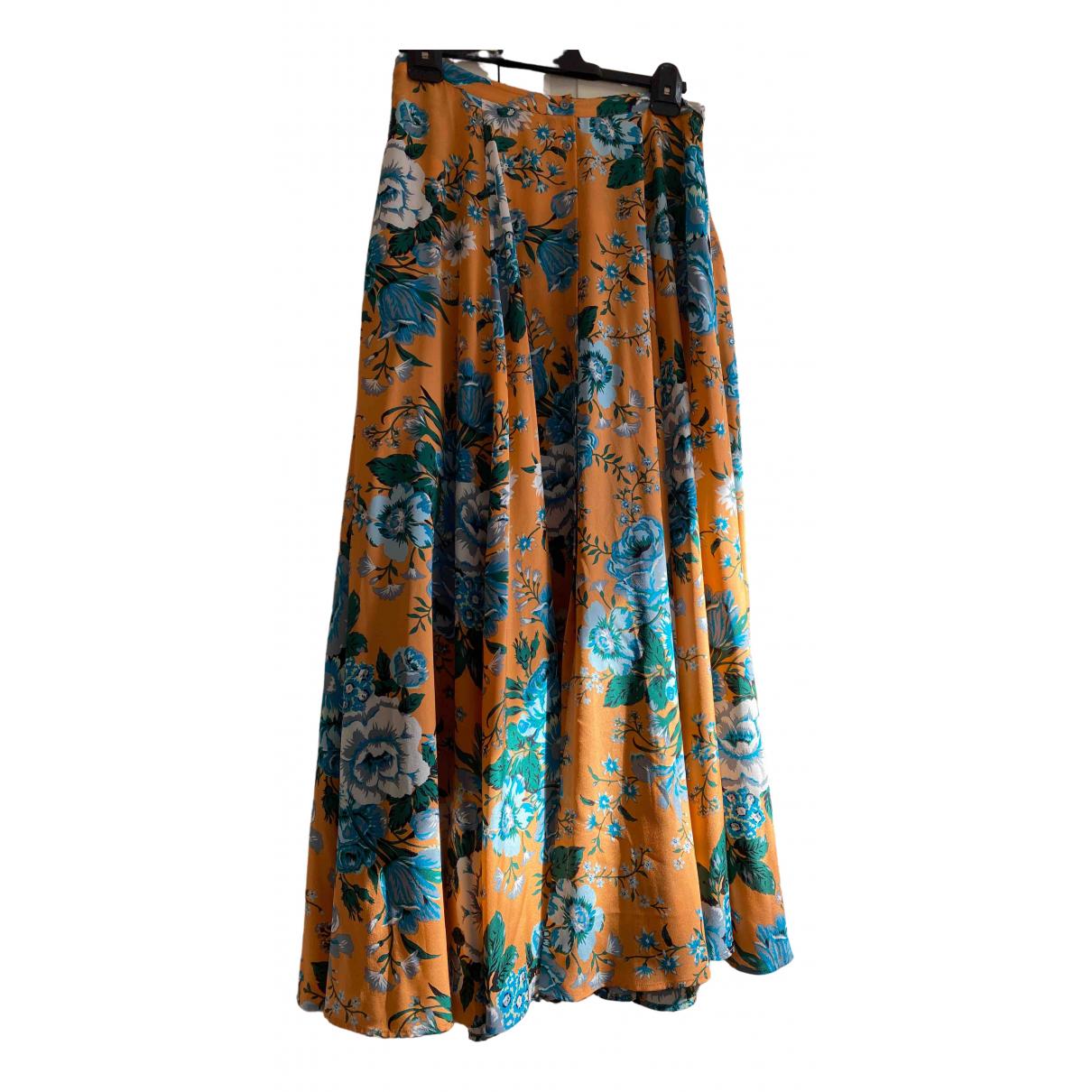 Diane Von Furstenberg \N Orange Silk skirt for Women 12 US