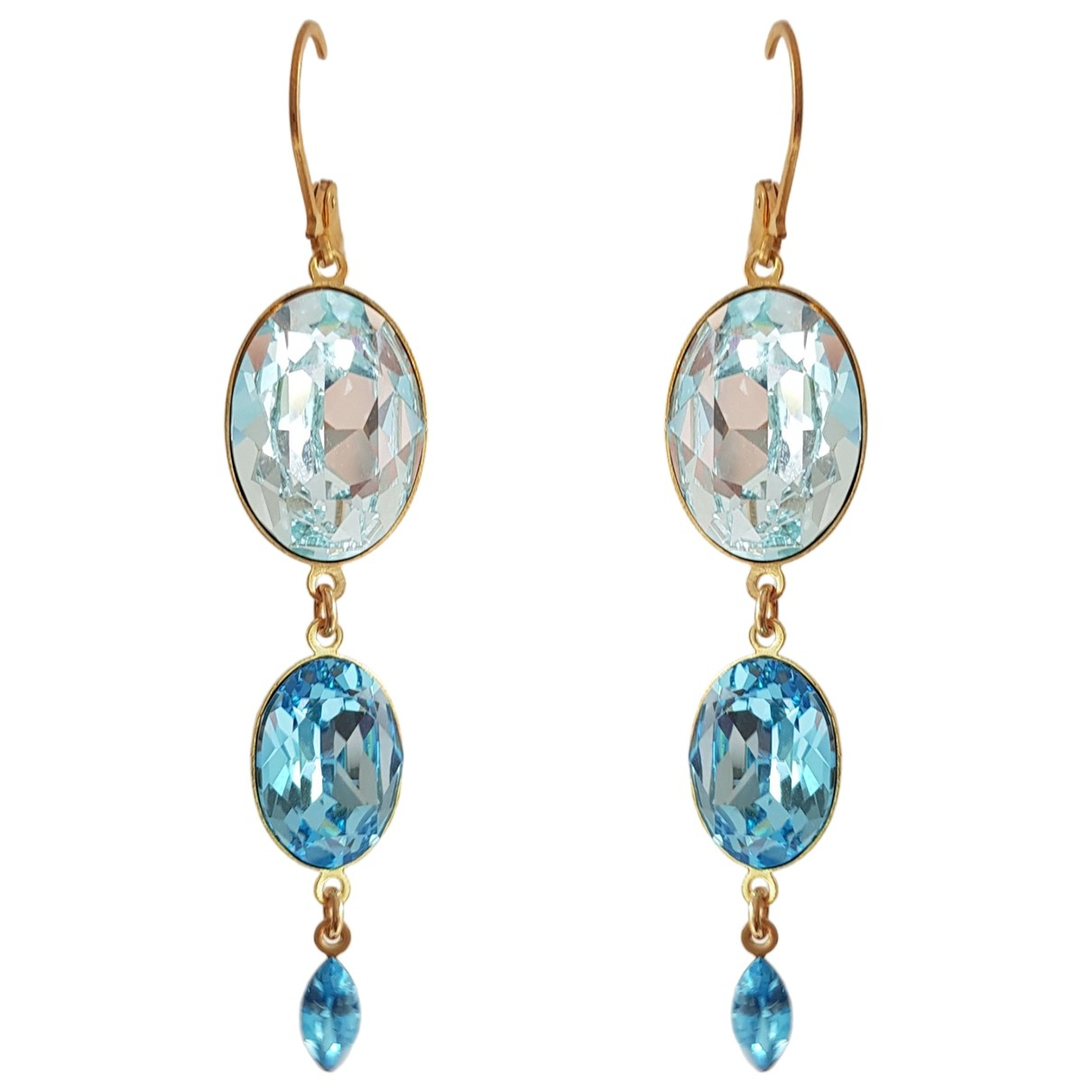 Non Signé / Unsigned \N Turquoise Crystal Earrings for Women \N