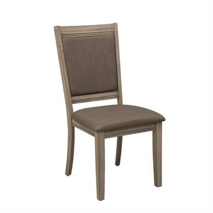 Sun Valley Collection 439-C6501S Uph Side Chair with Upholstered in Brown Tweed  Tapered Legs and 18.75
