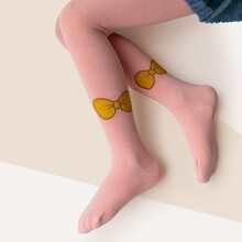 Toddler Girls Bow Pattern Stockings