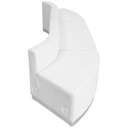 ZB-803-780-SET-WH-GG HERCULES Alon Series White Leather Reception Configuration 3