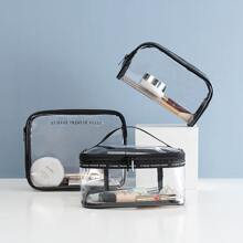 1pc Simple Clear Cosmetic Storage Bag