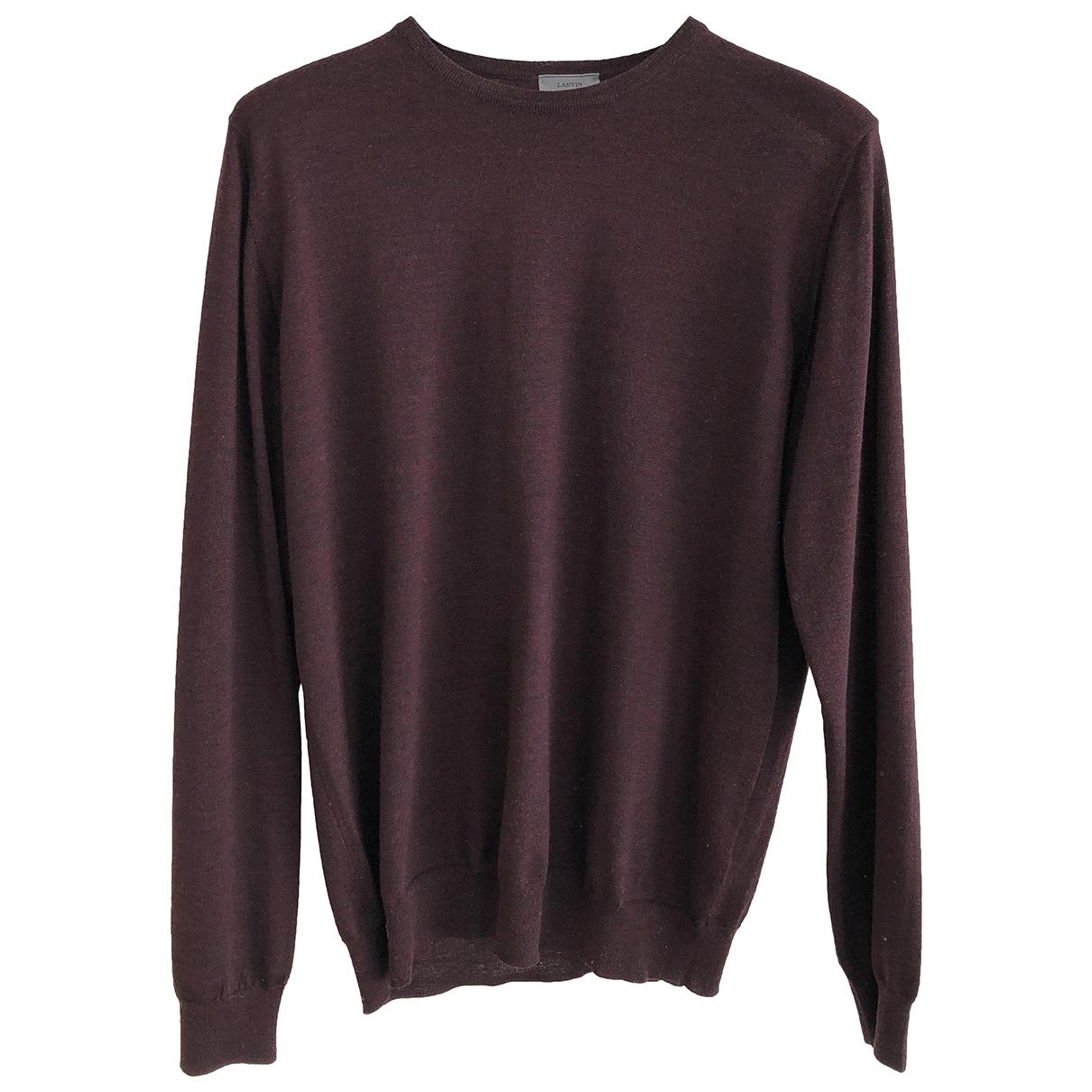 Lanvin - Pulls.Gilets.Sweats   pour homme en laine - bordeaux