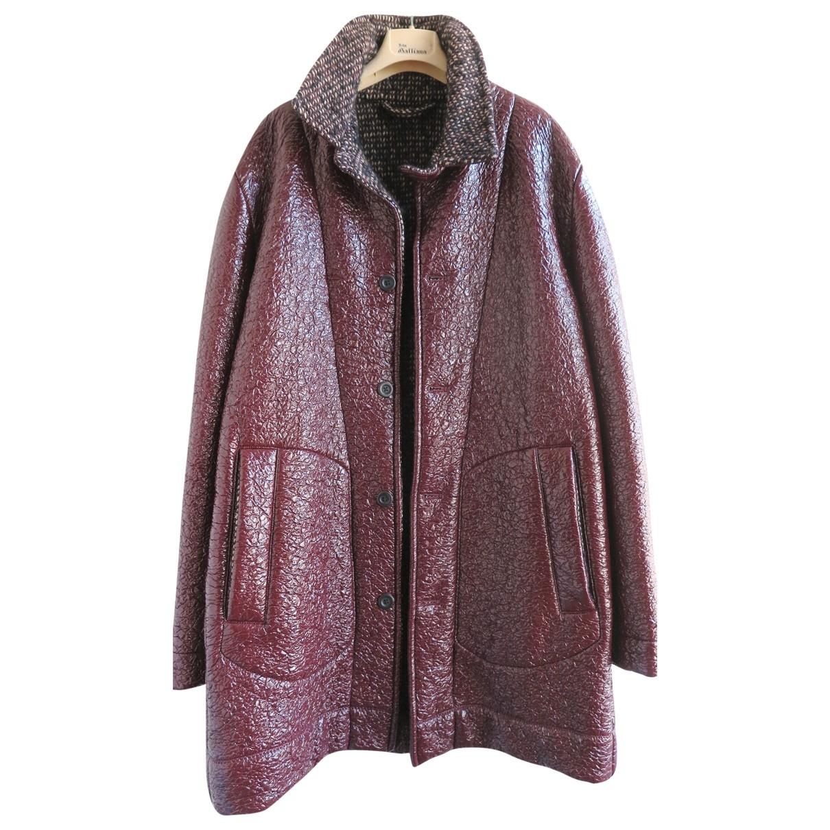 Bottega Veneta \N Burgundy Wool coat  for Men 48 IT