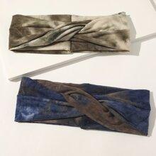 2pcs Tie Dye Pattern Headband