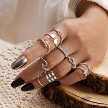 Ring mit Herzen & Unendlichkeit Dekor 10 Stuecke