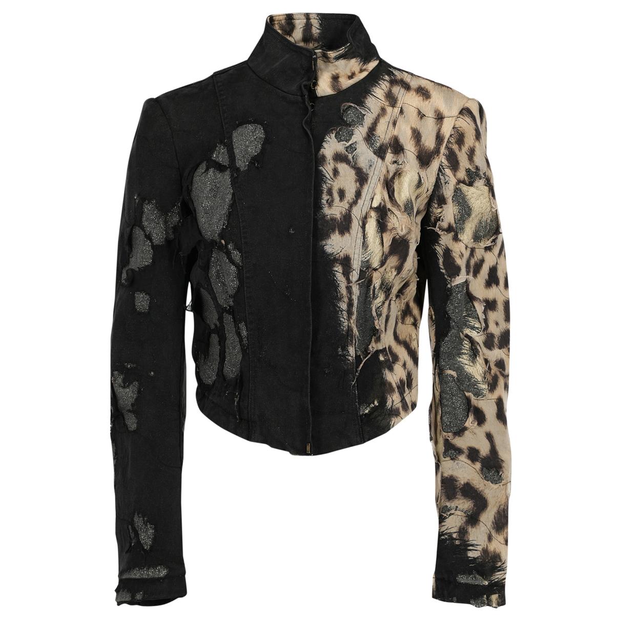 Roberto Cavalli \N Beige Cotton jacket for Women 38 FR