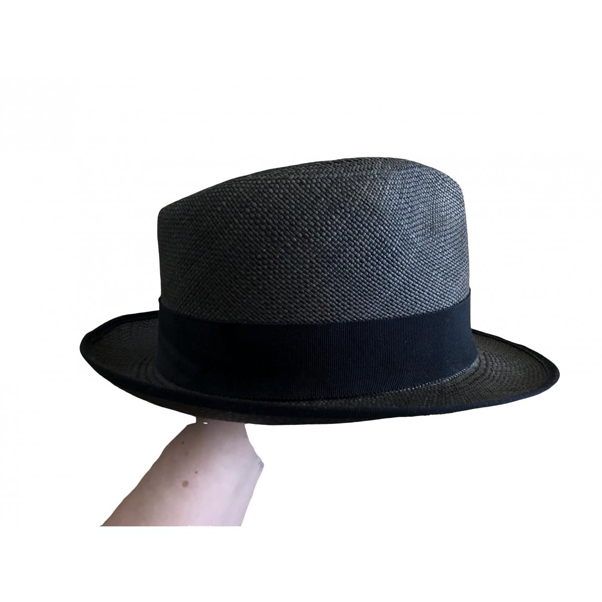 Sombreros en Paja Antracita Muhlbauer