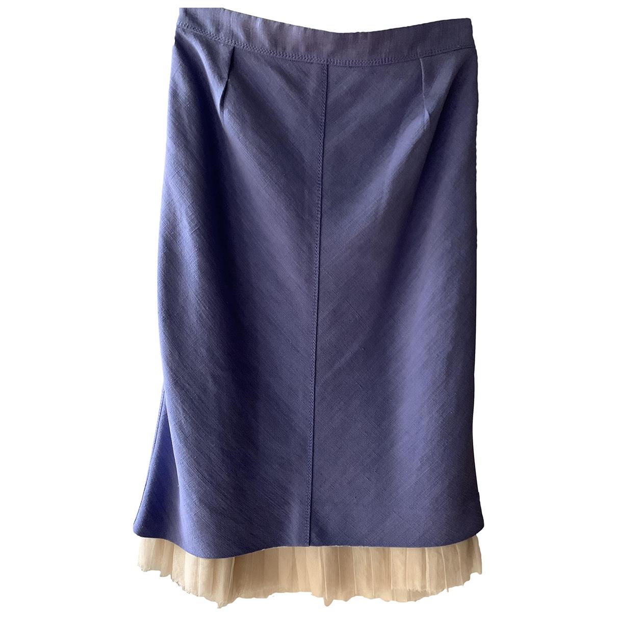 Louis Vuitton \N Purple Linen skirt for Women 38 FR