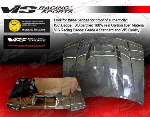 VIS Racing 05DGMAG4DSRT-010C Carbon Fiber SRT Hood Dodge Magnum 05-07