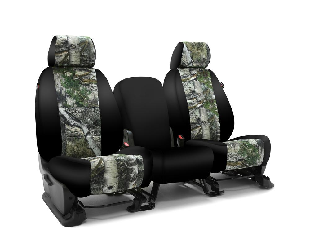 Coverking CSC2MO11CH7021 Skanda Custom Seat Covers 1 Row Neosupreme Mossy Oak Mountain Country with Black Sides Rear Chevrolet Silverado 2500 | 3500 2