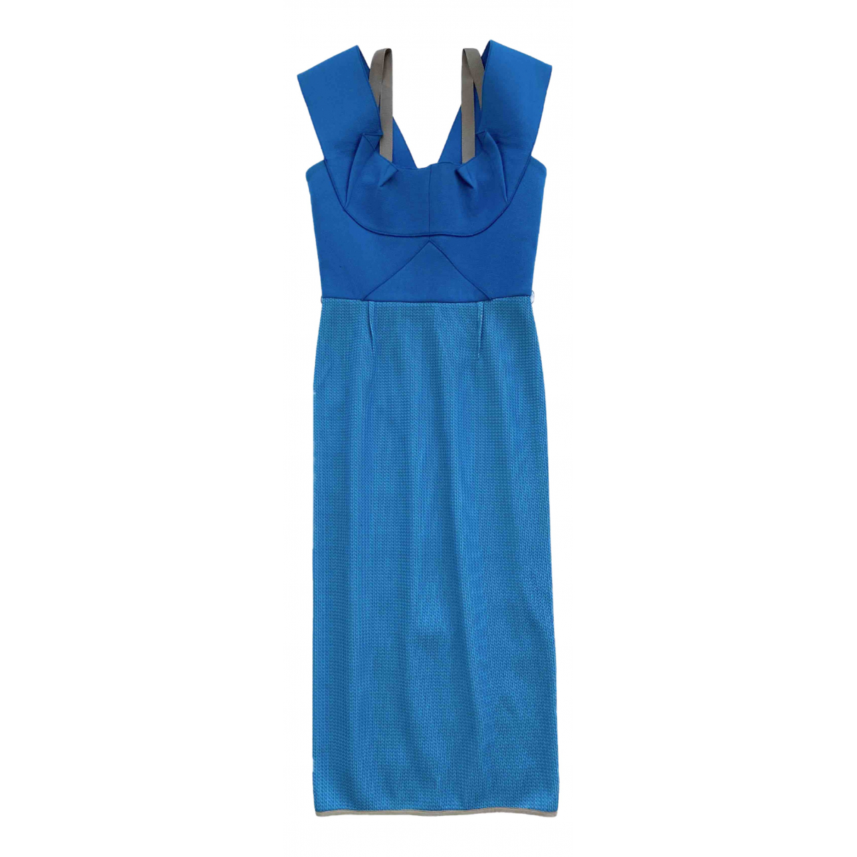 Roland Mouret \N Kleid in  Blau Wolle