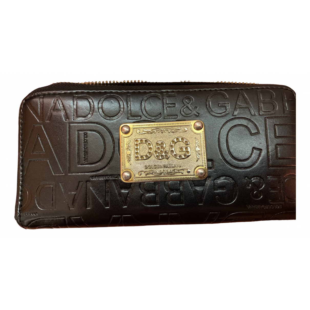 D&g \N Portemonnaie in  Schwarz Leder