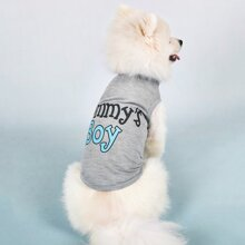 1pc Letter Graphic Dog Tank