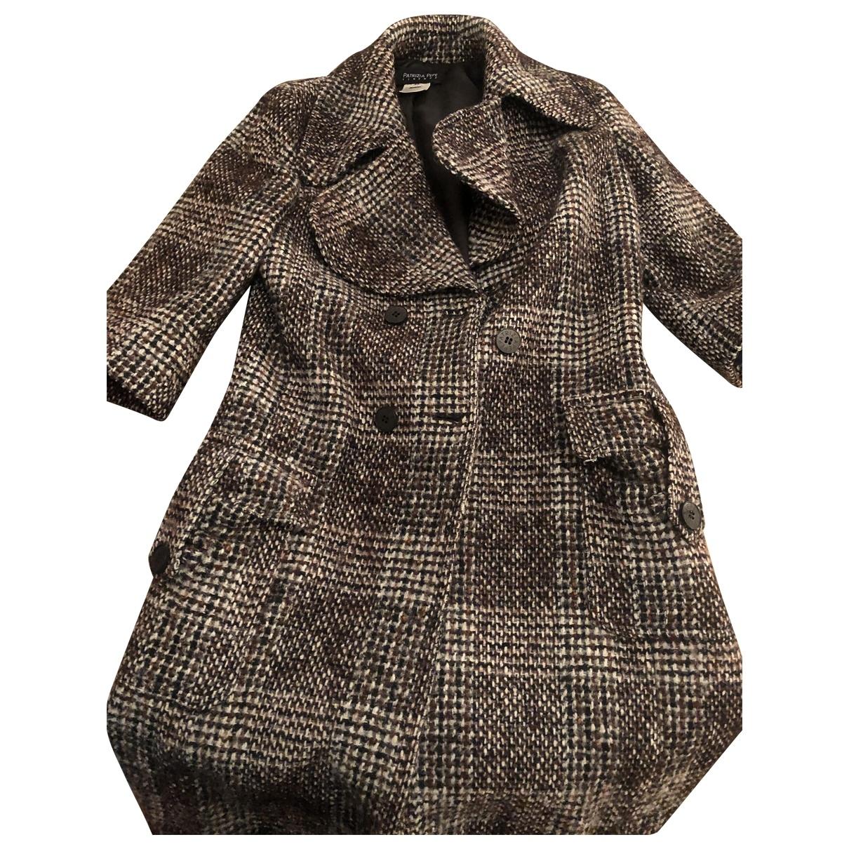 Patrizia Pepe - Manteau   pour femme en laine - bordeaux