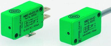 Pepperl + Fuchs Inductive Sensor - Block, NPN-NO Output, 2 mm Detection, IP67, Faston 4.8mm - 3 Pin Terminal