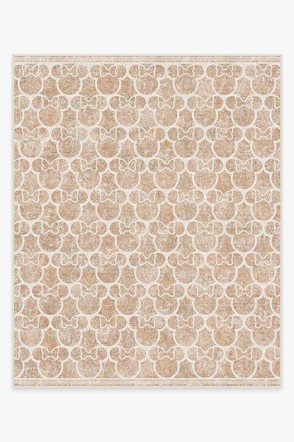 Washable Rug Cover & Pad   Minnie Trellis Rose Gold Rug   Stain-Resistant   Ruggable   8'x10'