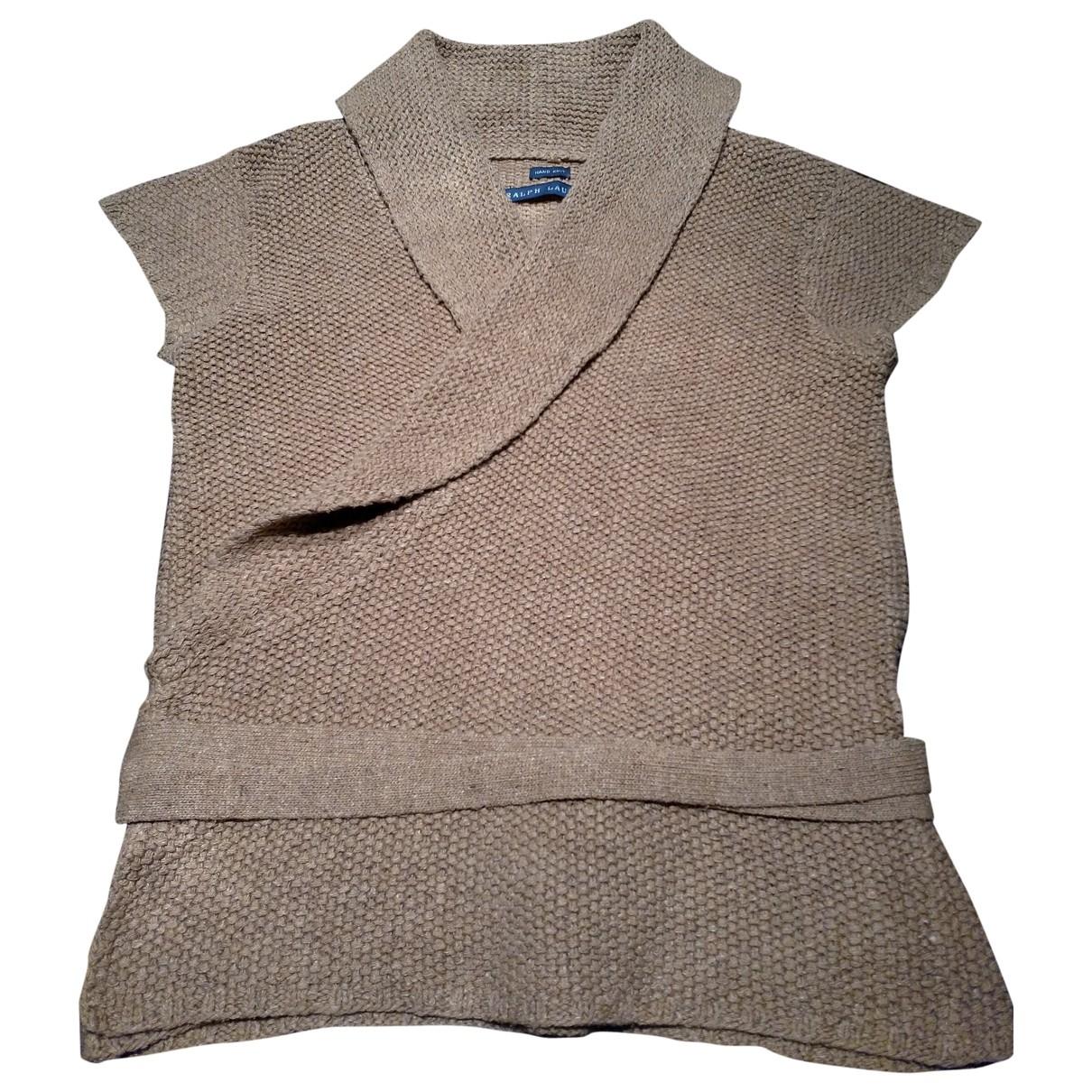 Ralph Lauren \N Pullover in  Beige Seide