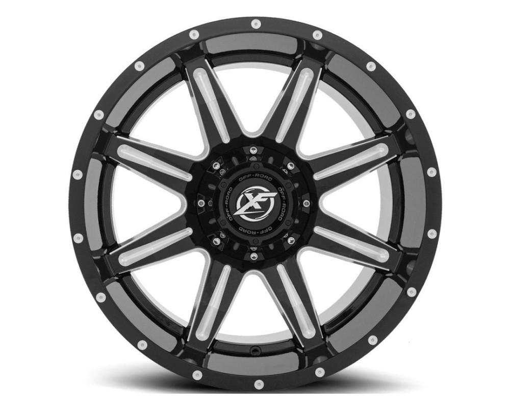 XF Off-Road XF-215 Wheel 20x12 5x127|5x139.7 -44mm Gloss Black Milled