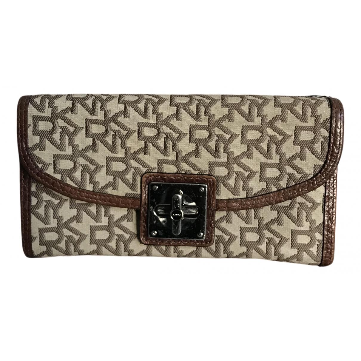 Dkny N Brown Cloth wallet for Women N