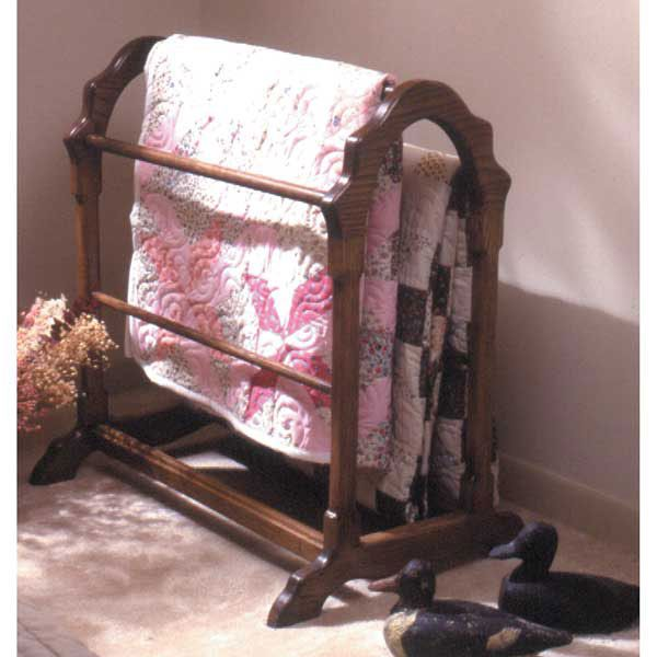 Woodworking Project Paper Plan to Build Country Classic Quilt Rack