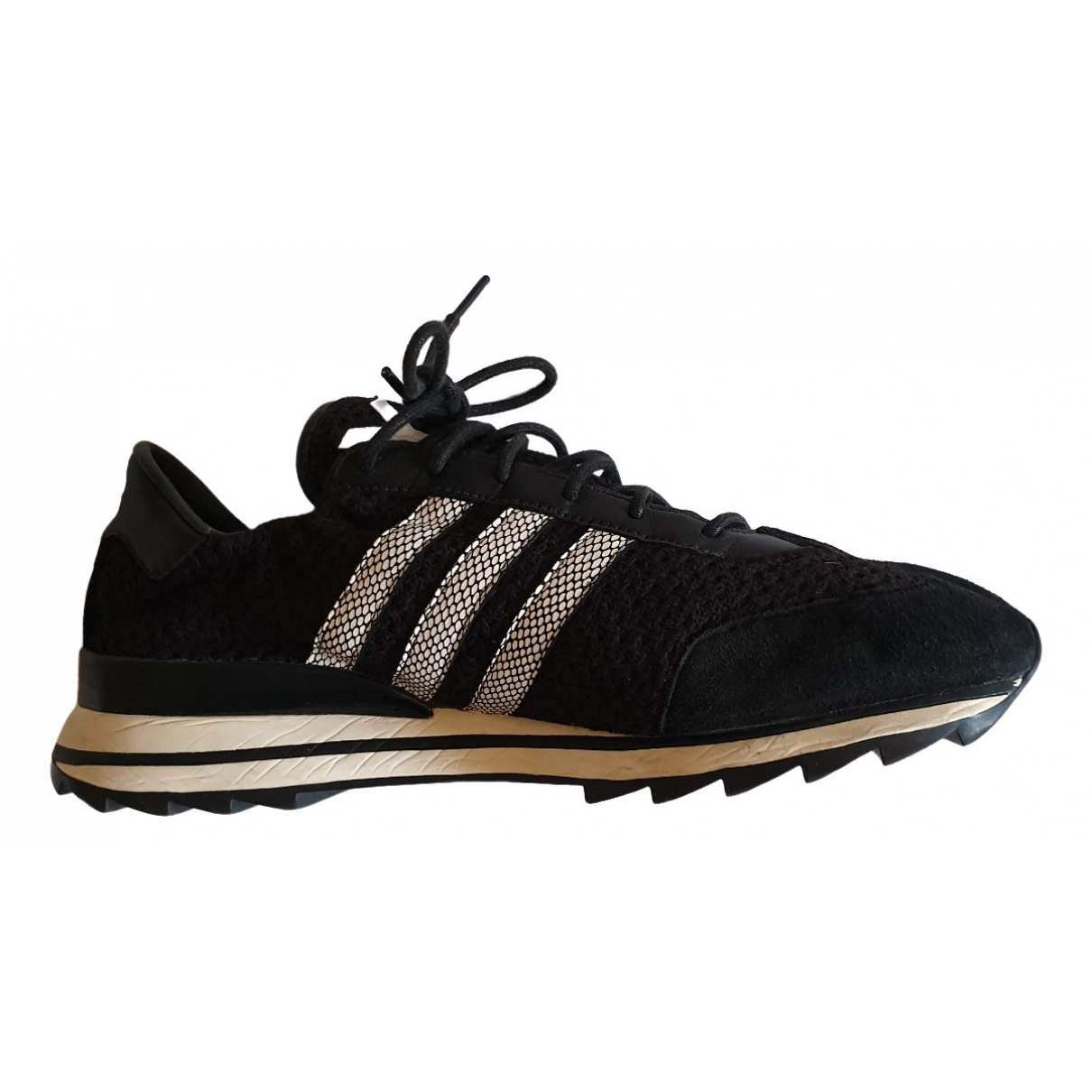 Y-3 \N Black Leather Trainers for Women 6.5 UK