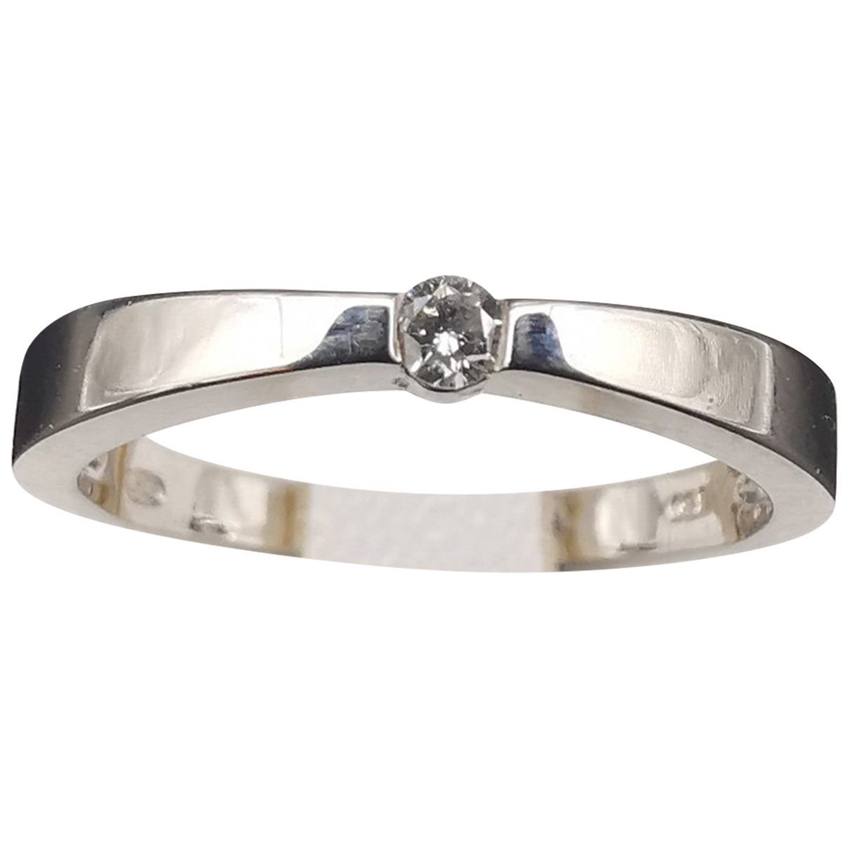 Non Signé / Unsigned Solitaire Grey White gold ring for Women \N