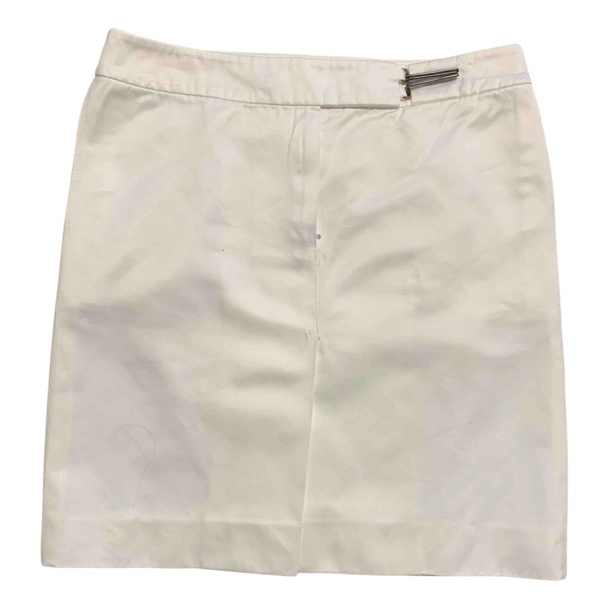 Yves Saint Laurent N White Cotton skirt for Women 38 FR