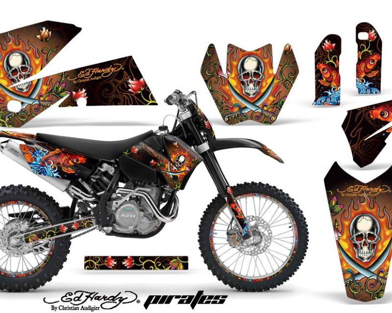 AMR Racing Graphics MX-NP-KTM-C4-05-07-EDHP O Kit Decal Wrap For KTM EXC/SX/MXC?/SMR/XCF-W 2005-2007áEDHP ORANGE