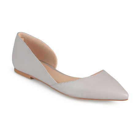 Journee Collection Womens Cortni D'Orsey Ballet Flats, 6 Wide, Gray