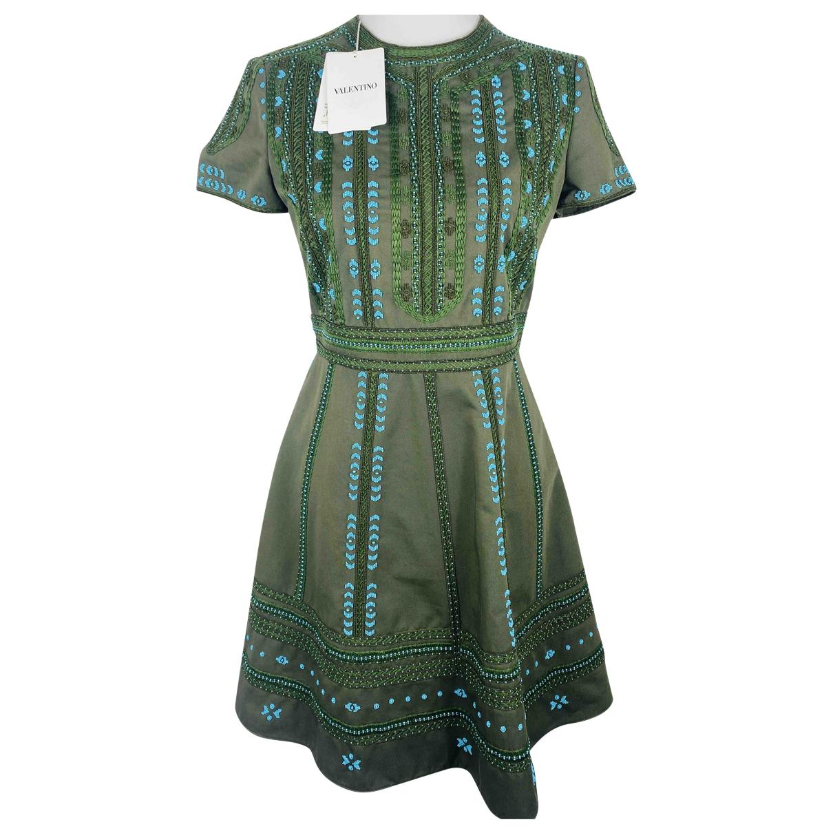 Valentino Garavani \N Kleid in  Khaki Mit Pailletten