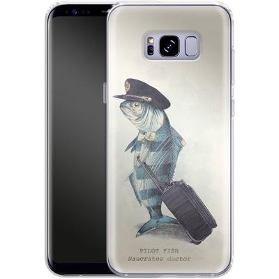 Samsung Galaxy S8 Plus Silikon Handyhuelle - The Pilot von Eric Fan