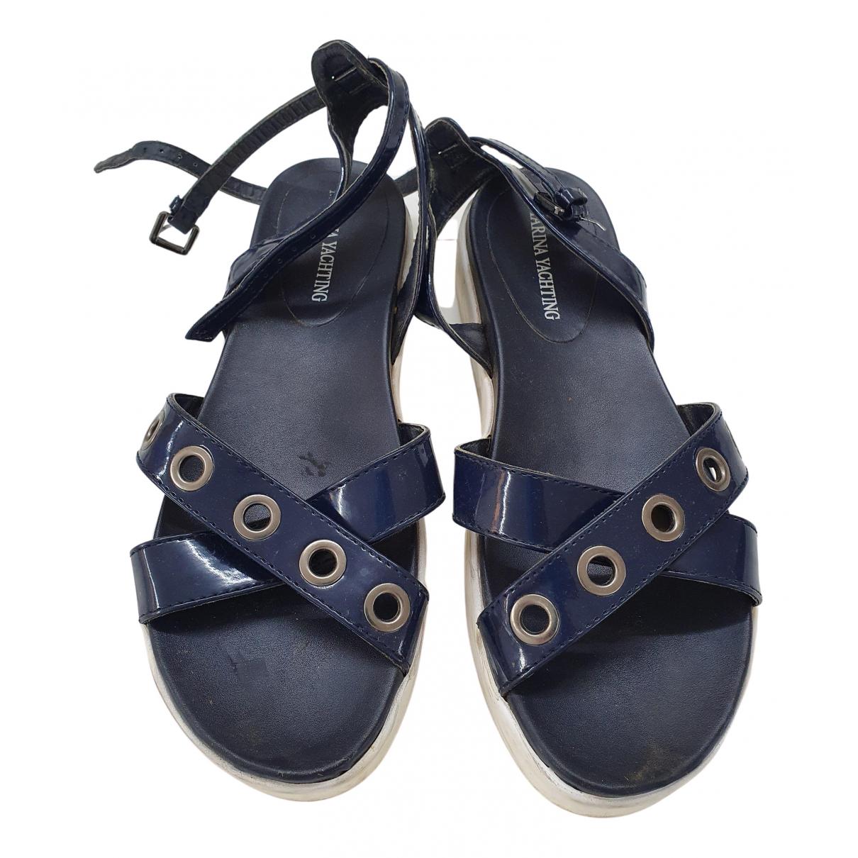 Marina Yachting \N Sandalen in  Blau Leder