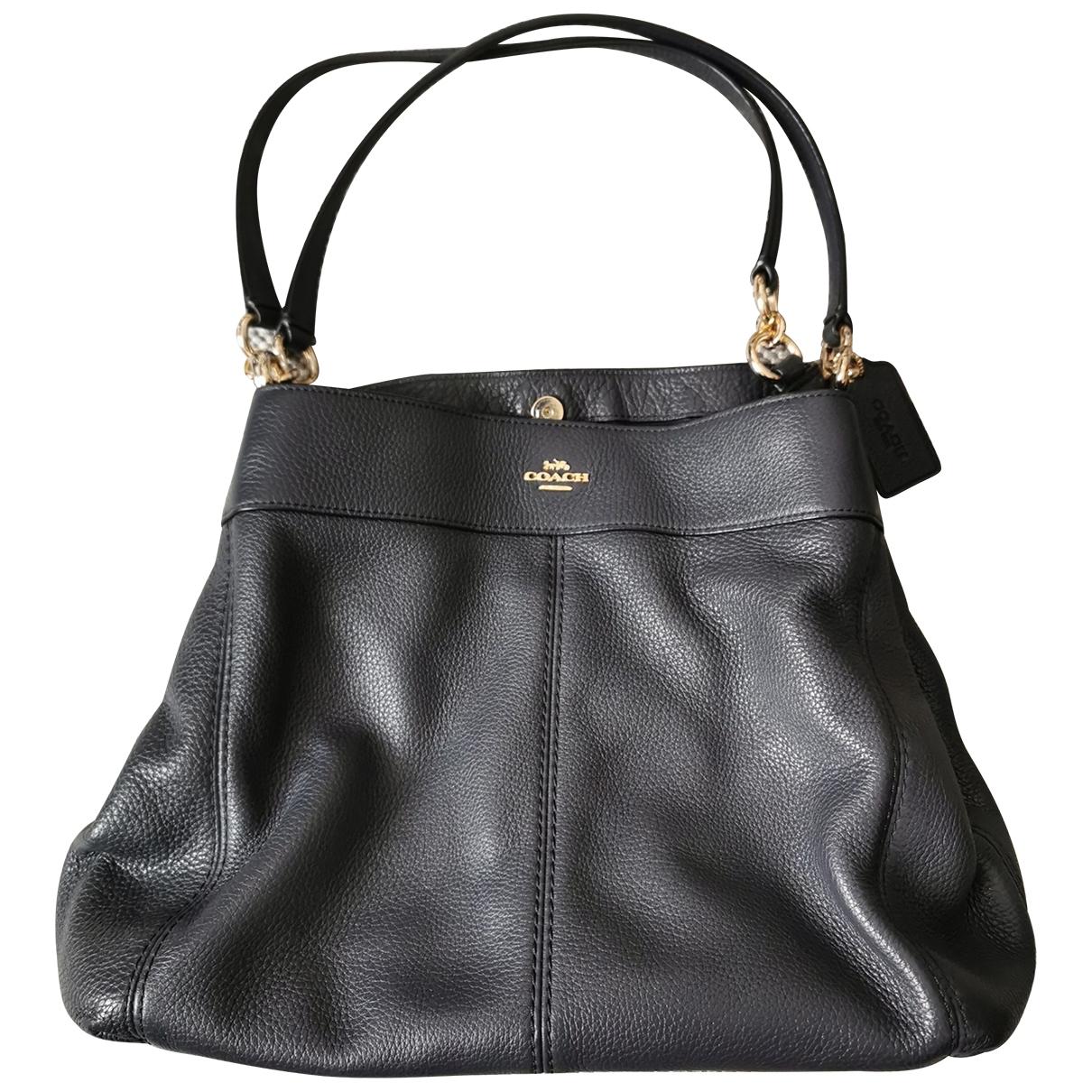 Coach \N Blue Leather handbag for Women \N