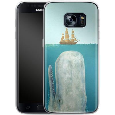 Samsung Galaxy S7 Silikon Handyhuelle - The Whale von Terry Fan
