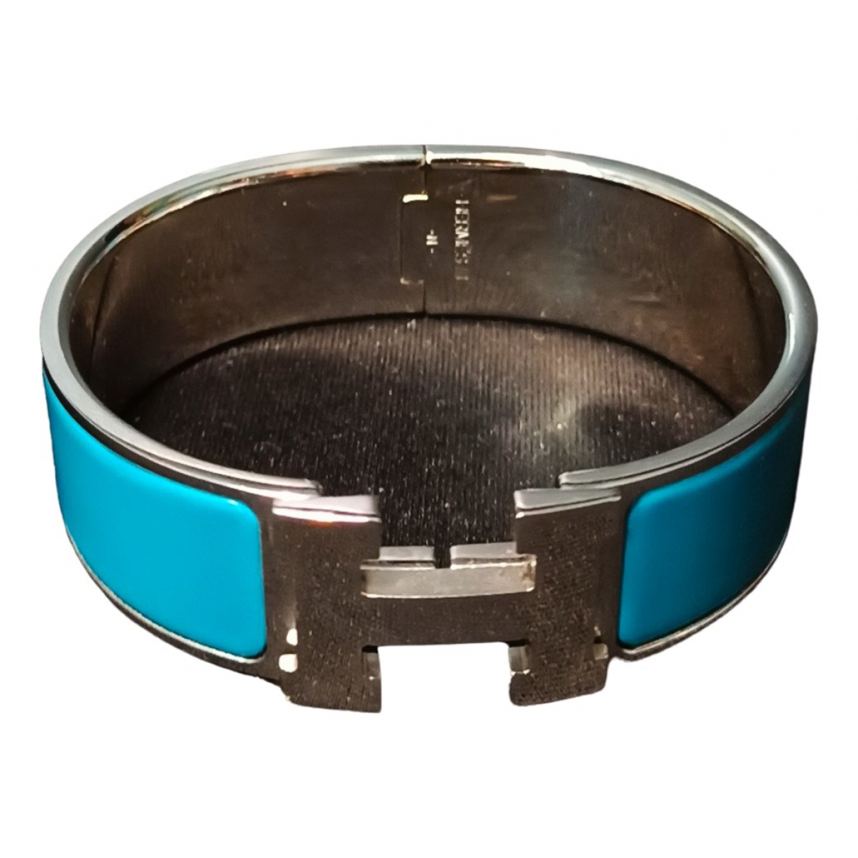 Hermès Clic H Turquoise Steel bracelet for Women \N