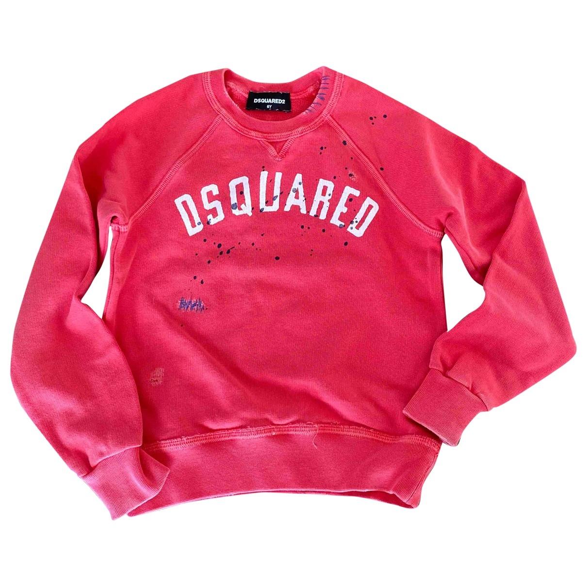 Dsquared2 - Pull   pour enfant en coton - rouge