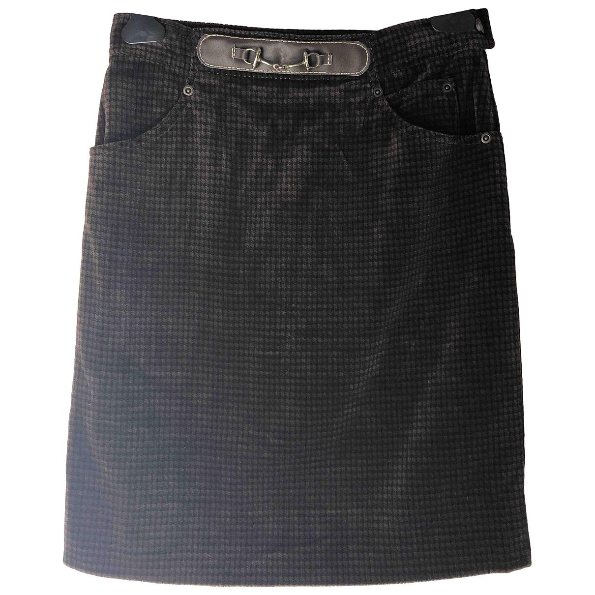 Pierre Cardin - Jupe   pour femme en velours - marron