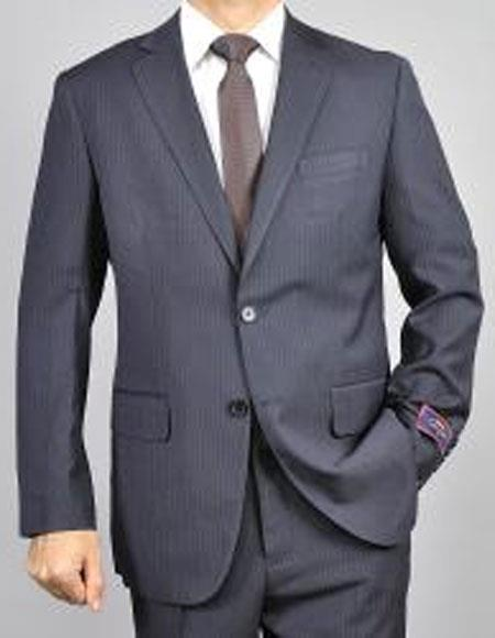 Mens pinstripe 2Buttons Giorgio Fiorelli Brand suits Flat Front Pants