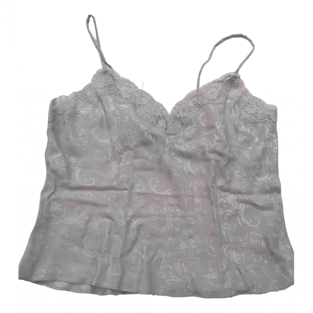 Dior \N Grey Silk  top for Women 38 FR