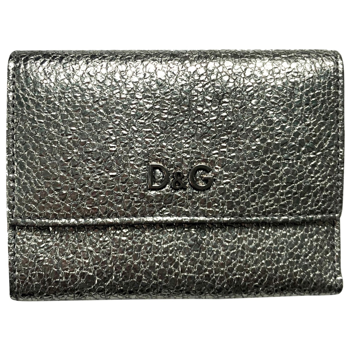 D&g \N Silver Leather wallet for Women \N