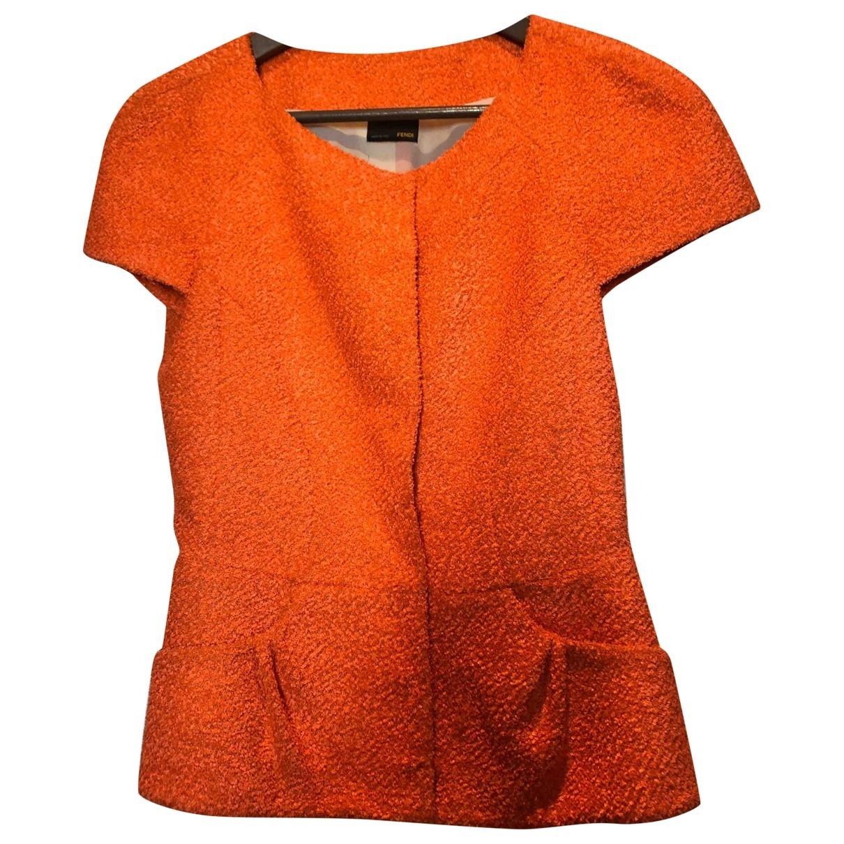 Fendi - Veste   pour femme en coton - orange